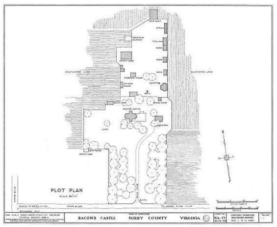 Plantation Layout of Bacon's Castle
